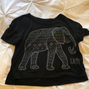 Elephant crop T-shirt